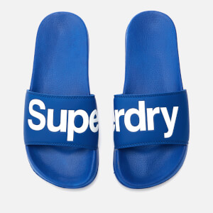 Superdry Men's Superdry Pool Slide Sandals - Racer Cobalt/Optic White