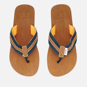 Superdry Men's Roller Flip Flops - Dark Navy/Tan