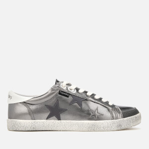 Superdry Women's Super Sleek Logo Low Top Trainers - Pewter