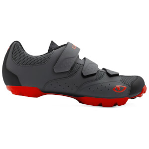 Giro Carbide RII MTB Cycling Shoes - Dark Shadow/Red