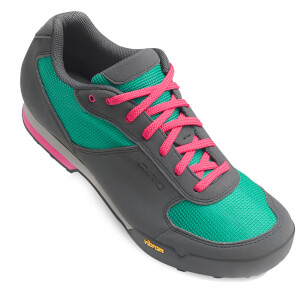 Giro Petra Women's MTB Cycling Shoes - Turquoise/Bright Pink