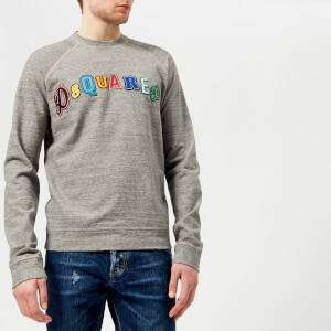 Dsquared2 Men's Logo Muscle Fit Sweatshirt - Grey Melange