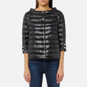 Herno Women's Cape Woven Jacket with 3/4 Sleeves - Black