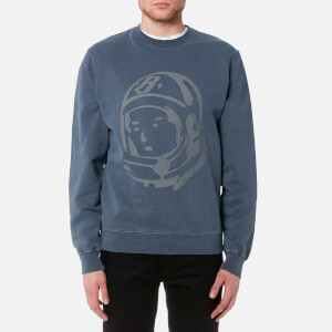 Billionaire Boys Club Men's Damaged Crewneck Sweatshirt - Overdye Navy
