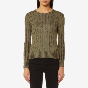 Polo Ralph Lauren Women's Julianna Crew Neck Jumper - Olive