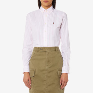 Polo Ralph Lauren Women's Kendal Lightweight Shirt - Pink/White