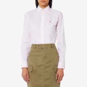 Polo Ralph Lauren Women's Kendal Lightweight Shirt - Pink/White