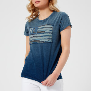 Polo Ralph Lauren Women's Flag Denim T-Shirt - Blue