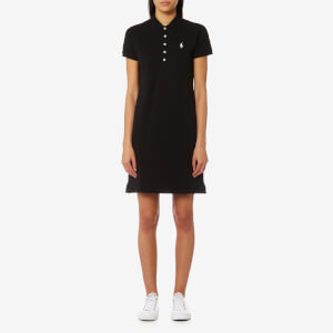 Polo Ralph Lauren Women's Stretch Mesh Polo Dress - Black