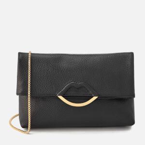 Lulu Guinness Women's Issy Half Covered Lip Shoulder Bag - Black