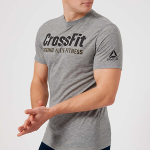 Reebok Men's CrossFit Logo Short Sleeve T-Shirt - Medium Grey Heather