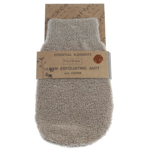 Hydrea London Exfoliating Linen Mitt with Copper -kuorintakinnas kuparilla