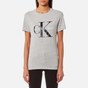 Calvin Klein Women's Shrunken T-Shirt - Light Grey Heather