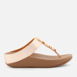 FitFlop Women's Halo Toe Post Sandals - Rose Gold