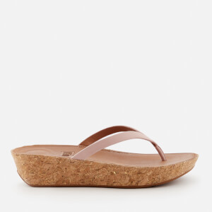 FitFlop Women's Linny Wedged Toe Post Sandals - Dusky Pink