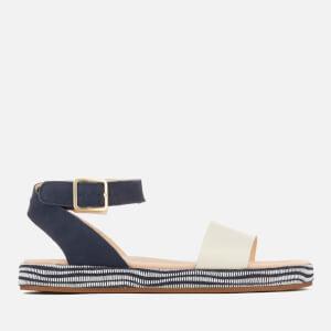 Clarks Women's Botanic Ivy Double Strap Flat Sandals - Navy Combi