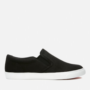 Clarks Women's Glove Pupper Nubuck Slip-On Trainers - Black