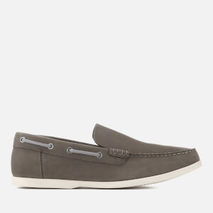 Clarks Men's Morven Sun Nubuck Slip-On Boat Shoes - Dark Grey