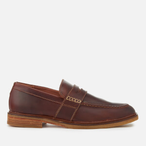 Clarks Men's Clarkdale Flow Leather Loafers - Mahogany