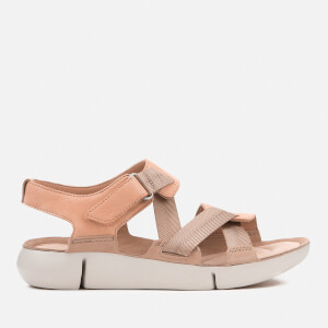 Clarks Women's Tri Clover Strappy Sport Sandals - Pink Combi