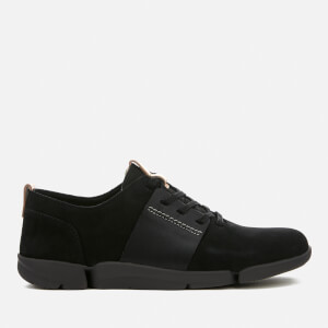 Clarks Women's Tri Caitlin Leather Trainers - Black Combi