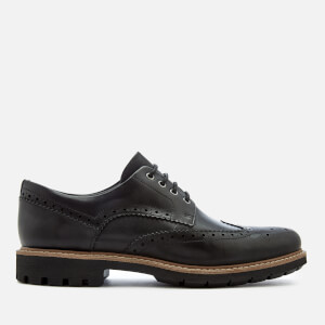 Clarks Men's Batcombe Wing Leather Brogues - Black