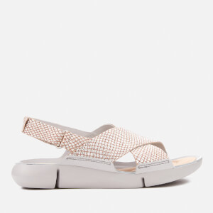 Clarks Women's Tri Chloe Cross Strap Sandals - Silver Metallic