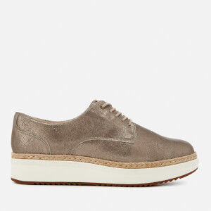 Clarks Women's Teadale Rhea Suede Flatform Oxford Shoes - Pewter