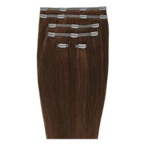 "Extensions Capillaires à Clipser 18"" Double Hair Set Clip-In Extensions – Chocolate 4/6"