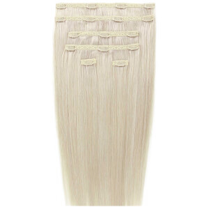 "Beauty Works 18"" Double Hair Set Clip-In Extensions – Pure Platinum 60a"