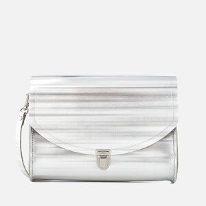 The Cambridge Satchel Company Women's Push Lock Bag - Silver Borderline