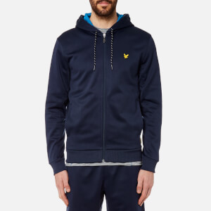 Lyle & Scott Men's Hill Fleece Hooded Track Top - Navy