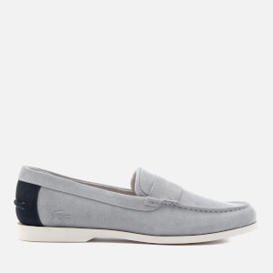 Lacoste Men's Navire Penny 216 Suede Loafers - Grey