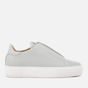 Axel Arigato Women's Clean 90 Laceless Strap Leather Trainers - Light Grey