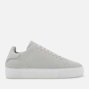 Axel Arigato Men's Clean 360 Perforated Leather Trainers - Grey