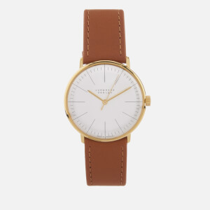 Junghans Men's Max Bill Hand Winding Watch - White/Tan