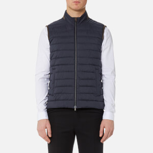 Herno Men's Luxury Padded Gilet - Deep Blue