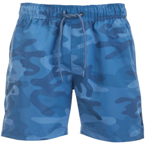 Crosshatch Men's Camo Swim Shorts - Blue Camo