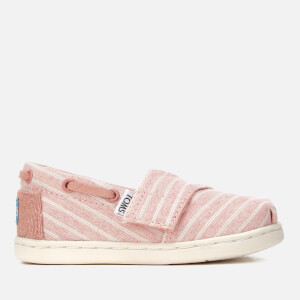 TOMS Toddlers' Bimini Chambray Stripe Slip-On Pumps - Bloom