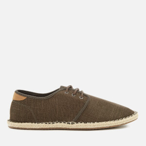 TOMS Men's Diego Canvas Lace Up Espadrilles - Tarmac Olive