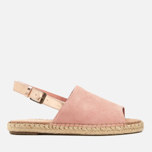 TOMS Women's Clara Suede Espadrille Sandals - Bloom/Rose Gold