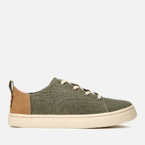TOMS Kids' Lenny Coated Canvas Trainers - Cypress