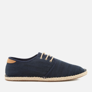 TOMS Men's Diego Canvas Lace Up Espadrilles - Navy: Image 1