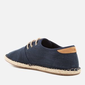 TOMS Men's Diego Canvas Lace Up Espadrilles - Navy: Image 3
