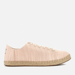 TOMS Women's Lena Canvas Lace Up Espadrilles - Bloom Slubby