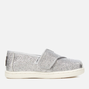TOMS Toddlers' Alpargata Slip-On Pumps - Silver Iridescent Glimmer