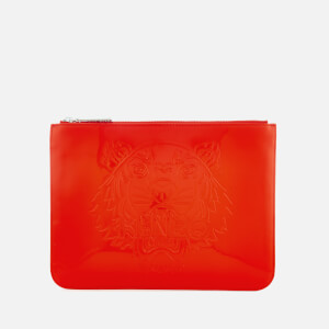 KENZO Women's Icon A4 Pouch - Medium Red