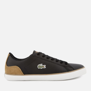 Lacoste Men's Lerond 118 1 Leather Trainers - Black/Light Brown