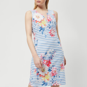 Joules Women's Elayna Notch Neck Shift Dress - Stripe Whitstable Floral
