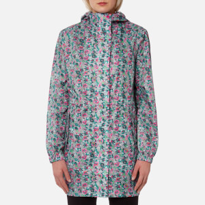 Joules Women's Golightly Waterproof Packaway Jacket - Grey Garden Ditsy
